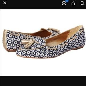COACH   Malkia Flats Loafers Gold Tassels Shoes